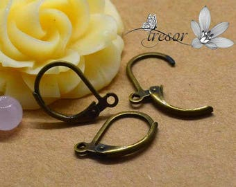 Earring, bronze, 15mm
