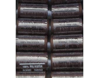 Brown polyester thread dark 303 1000 yards