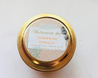 Tangerine Vanilla Coconut Wax Candle (Travel/Sample)