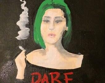 Small poster of a radical chick. Original artwork.