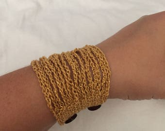 Crocheted Boho bracelet