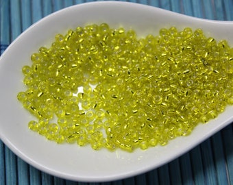 yellow for jewelry making lemon/gold seed beads