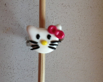 very well known cat polymer clay ring