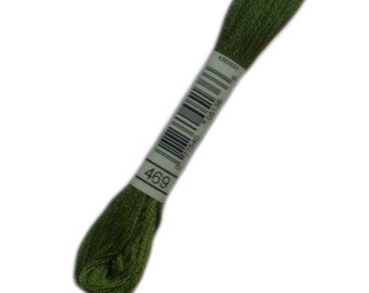 FLOSS 469 special DMC 469 Golden moss green - embroidery FLOSS dmc Mouliné 469 - skein of thread dmc mouline 469