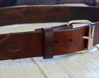 Eikblad Leather Belt - Large