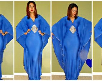Parisa Butterfly  Kaftan dress/ Kaft/ Abaya/spandex
