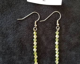 Green and Champagne Earrings