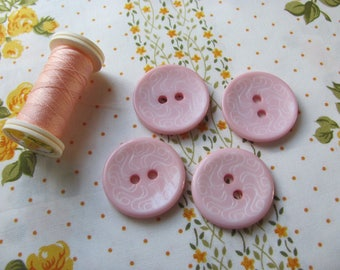 4 large buttons decorative pink tender 29mm