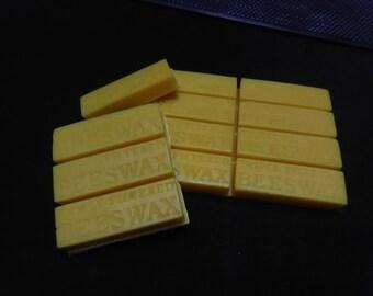 Beeswax 1/2 Pound,  8 Breakaway One Ounce Bars - Like Kit Kat Candybars