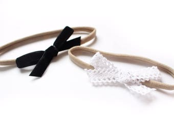 Black & white baby headbands, newborn headband
