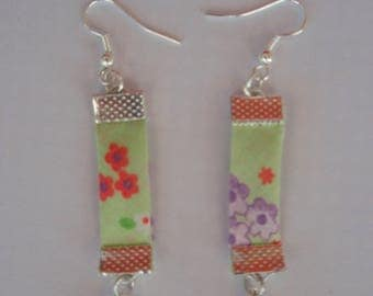 LIBERTY FLORAL GREEN EARRINGS