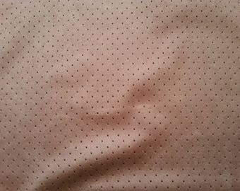 Fabric suede pink blush with small holes