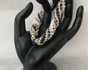 Large Spiral Beaded Bracelet