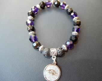 Baltimore Ravens Inspired Charm Bracelet