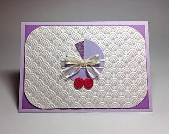 Handmade Purple Baby Girl Card