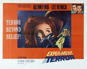 VINTAGE PLACEMAT - Poster-cinema - Experiment in terror with Glen Ford.