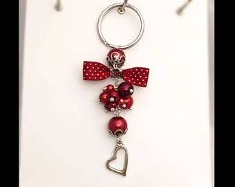 Red passion keychain