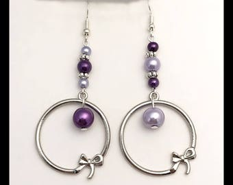 """Earrings """"Violet""""."""