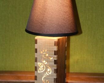 Decorative solid wood lamp