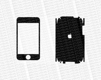 iPod Touch 2 Skin template for cutting or machining - Digital Download | Plotters, CNCs, Laser cutters, Silhouette Cameo, Cricut | 11 Files