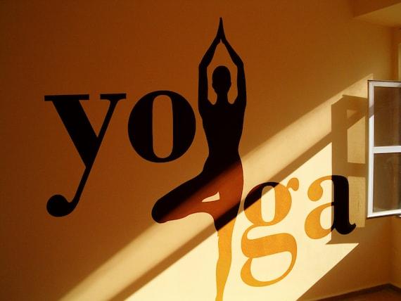 Yoga - Tree position, Vinyl wall decal sticker, Meditation mural collection for wall decor, Namaste Yogi Hindu Spiritual
