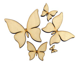 Blank Wooden Butterfly Plywood Scrapbooking Embellishment Wedding Decor Christmas