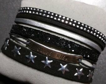 Handmade multi strand Cuff Bracelet