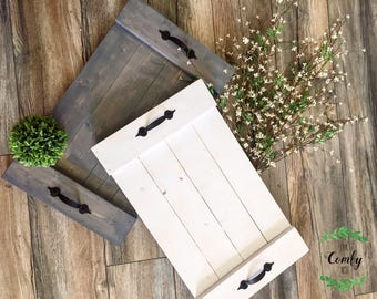 Wooden Tray | Rustic Bed Tray | Farmhouse Wooden Tray | Serving Tray | Bed Tray | Farmhouse Decor | Rustic Home Decor