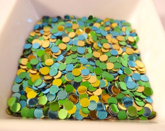 Glitter - confetti-yellow, blue, green - 9g - party - home decor - embellishments - scrapbooking