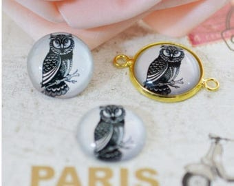 Set of 5 OWL Cabochon 20 mm