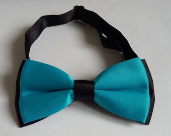 Bow tie adjustable man black and blue