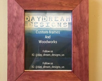 8x10 Stained Pine Picture Frame