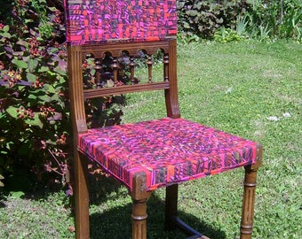 Psychedelic chair seat and back Ribbon