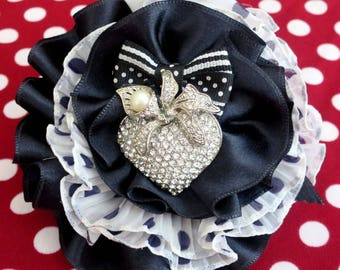"Brooch ""Tender oath"" Shabby Chic couture"