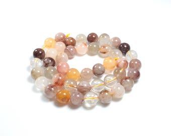 5 Quartz Inclusions LBP00045 8mm natural beads