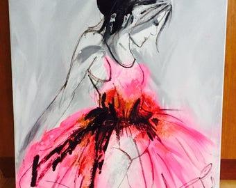 Ballerina - Acrylic paint