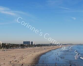Beach View Blank Greeting Card
