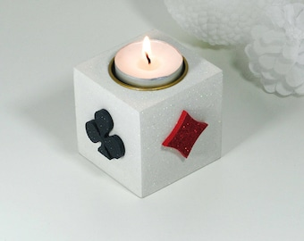 """""""ACE square"""" wooden candle holder"""