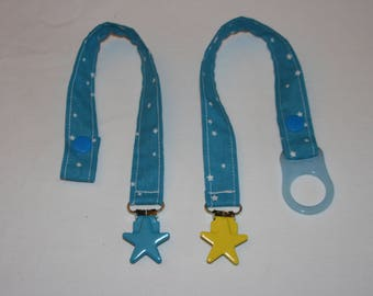 Fabric pacifier clip