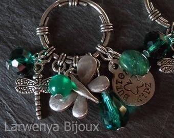Earrings - Emerald butterflies