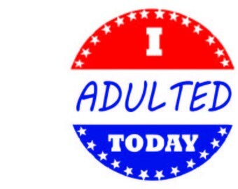 I Adulted Sticker