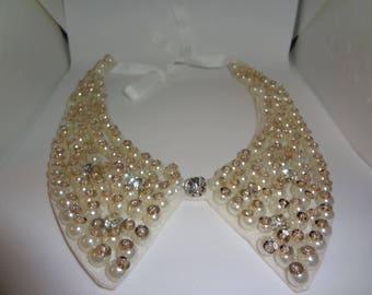 Bead Design Fake Collar Necklace
