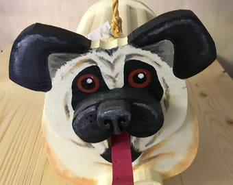 Pug Dog Birdhouse