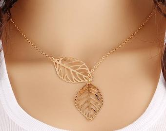 Detailed Leafs Golden Choker, Silver Choker Necklace, Gold Choker