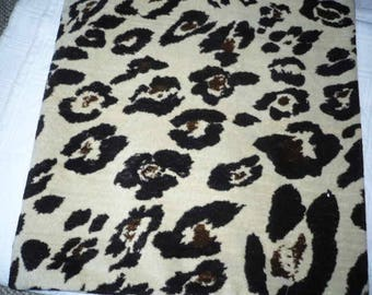 Pillow cover fabrics synt faux leopard fur