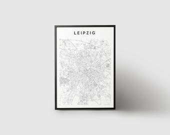 Leipzig Map Print