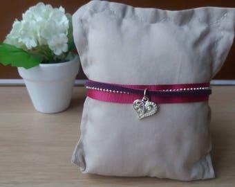 Purple tones Cuff Bracelet