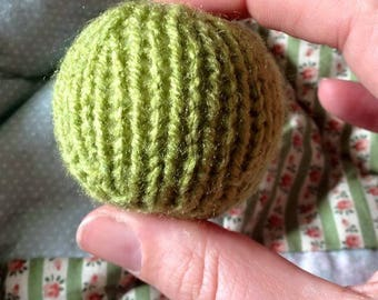 Knitted stress ball
