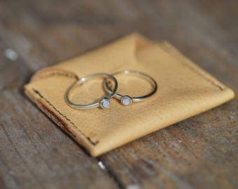 Custom Silver or Gold Stacking rings made to order