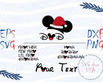 Christmas Family Mickey Mouse Boys Svg Dxf Png Eps cut files for Cutting Machines Cameo or Cricut